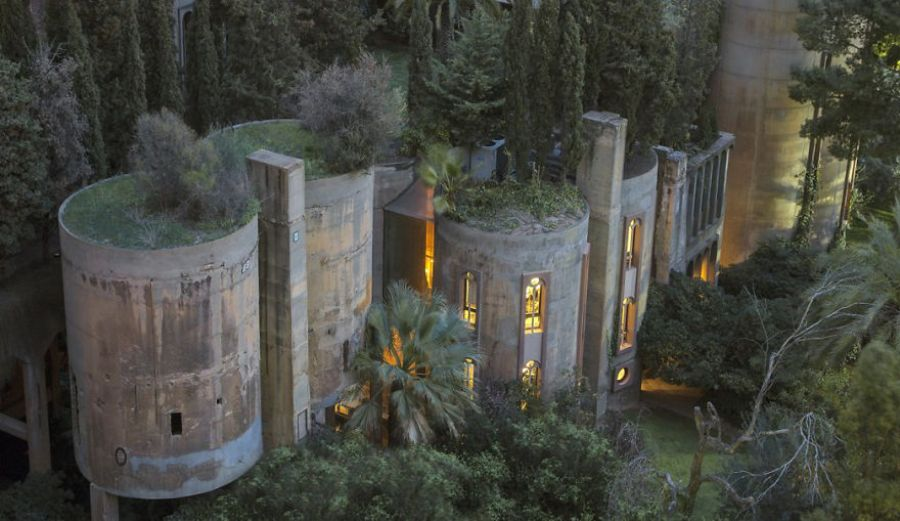 Steampunk Tendencies - Architect Spends 45 Years Transforming An Old Abandoned Cement Factory Into A Fairy Tale Home